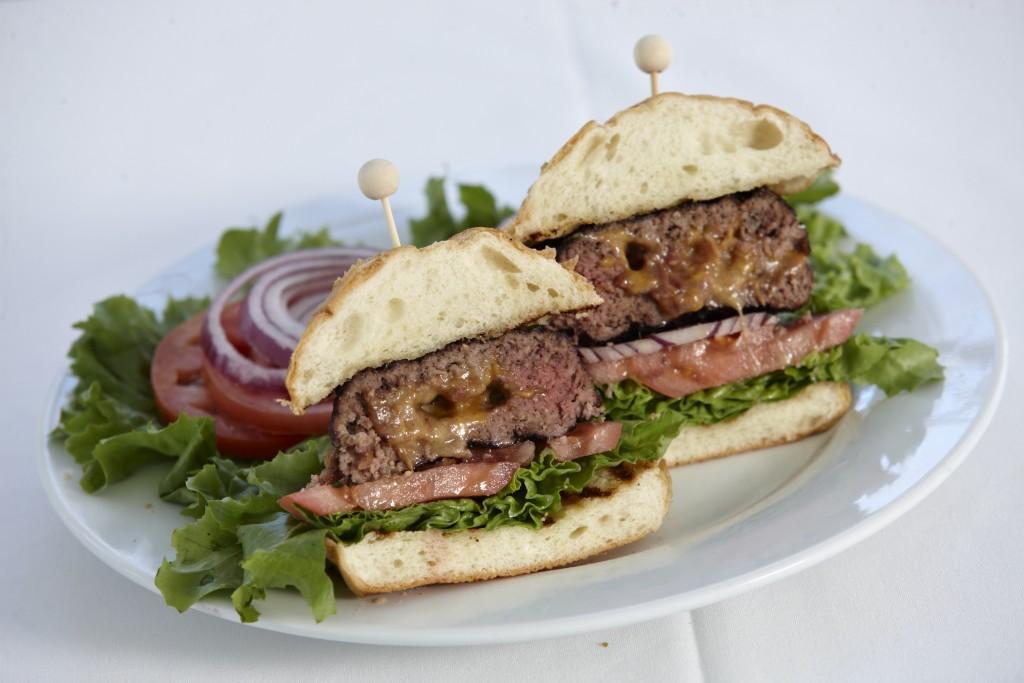 Stuffed Burger with Cheddar & Bacon
