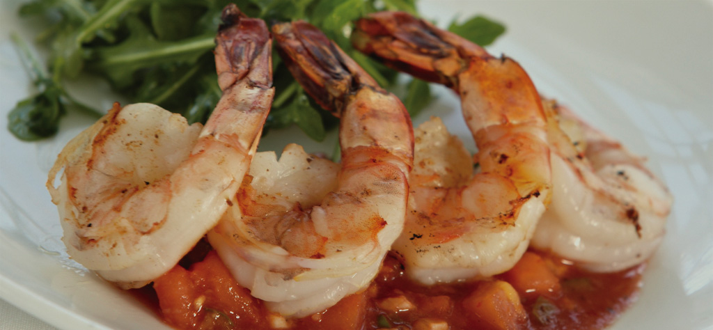 grilled shrimp and homemade cocktail sauce