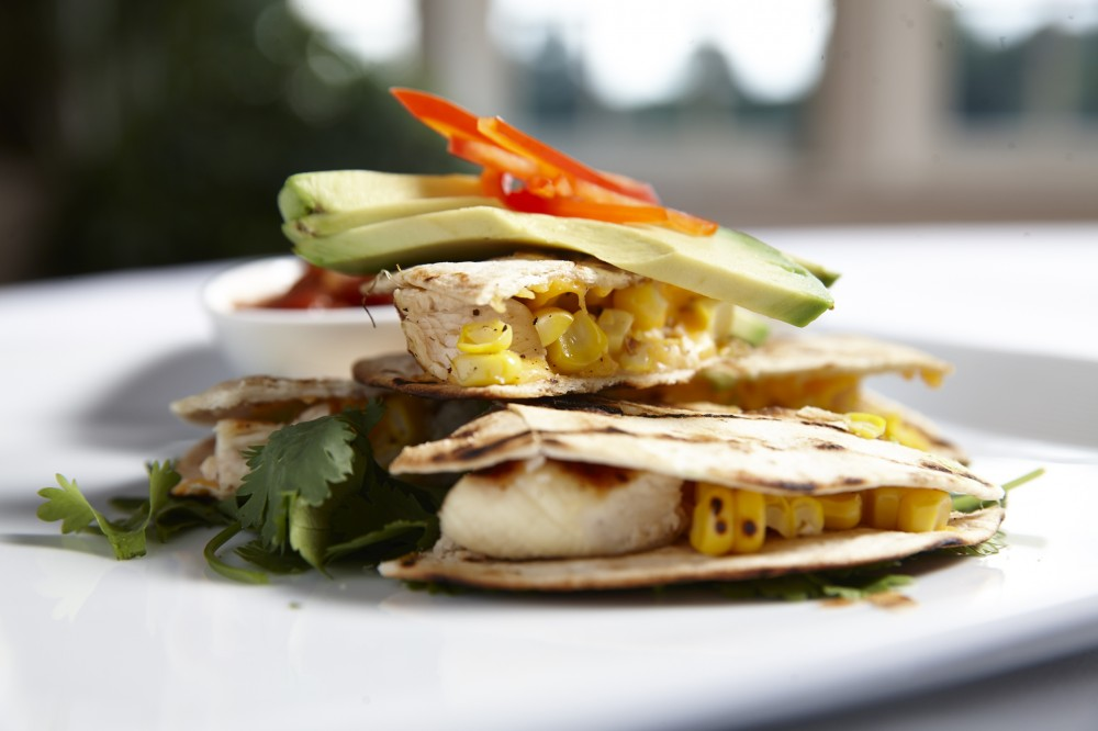 Grilled Chicken and Corn Quesadillas