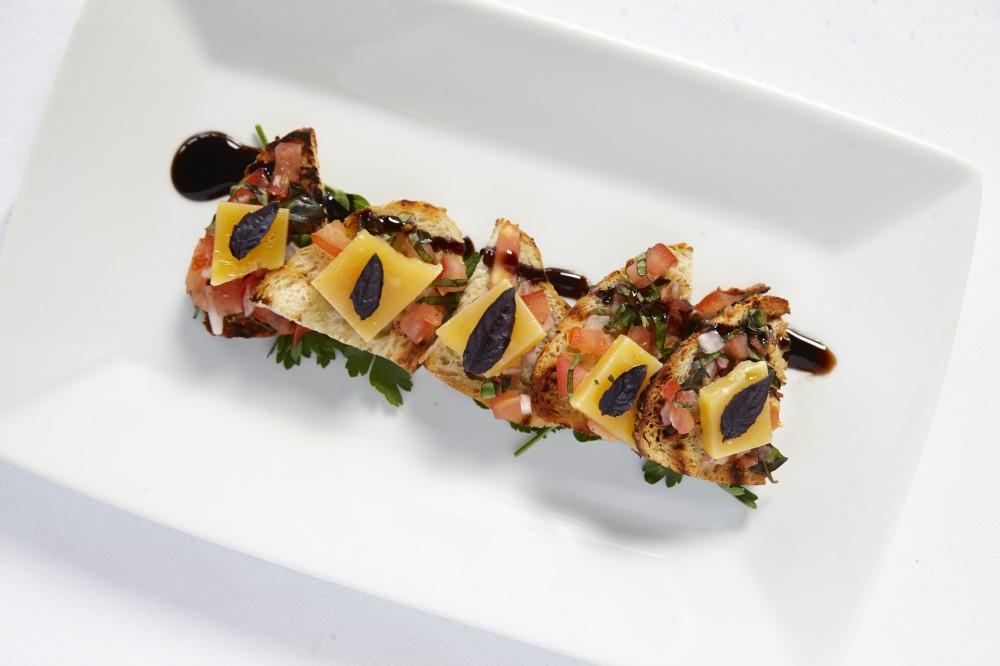 grilled beemster bruschetta