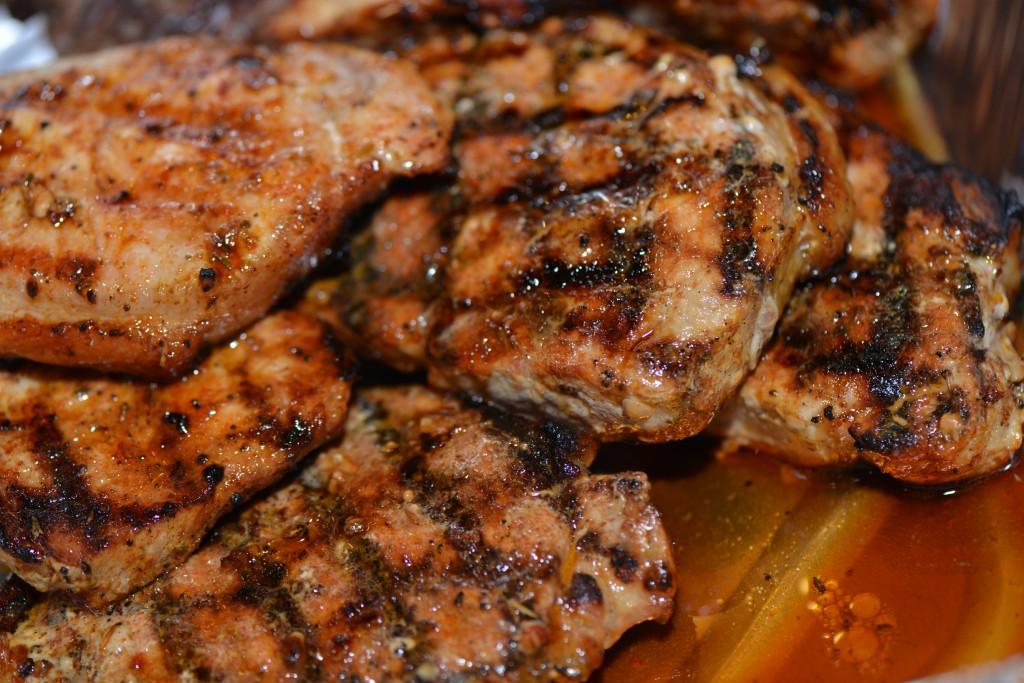 dry rubbed pork chops with guinness bbq sauce