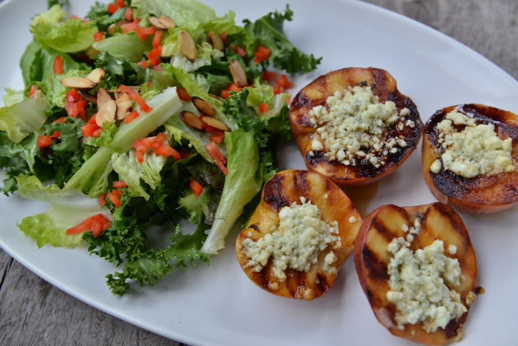 grilled bleu cheese apples
