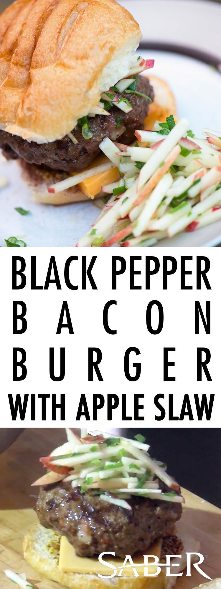 black bacon burger apple slaw