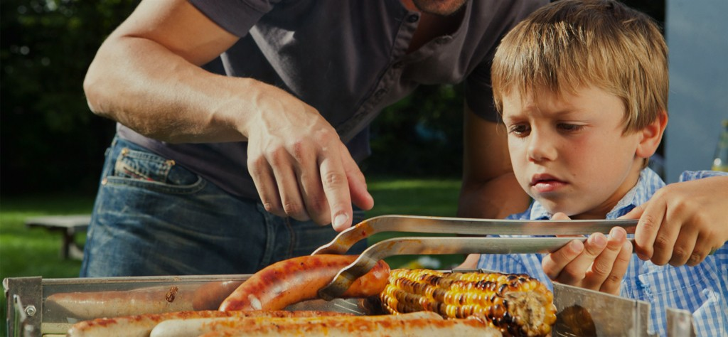 Grilling with kids