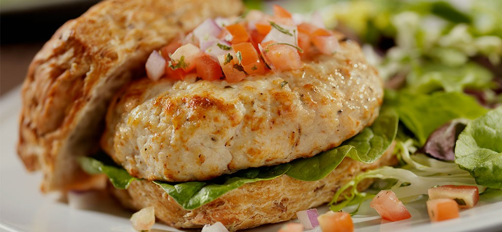 Grilled crab cake sandwich