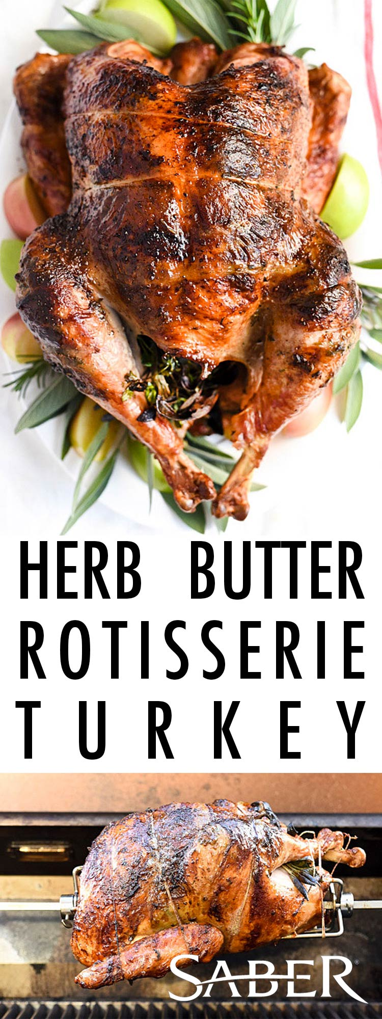 Herb Butter Rotisserie Turkey Better Barbecue Blog