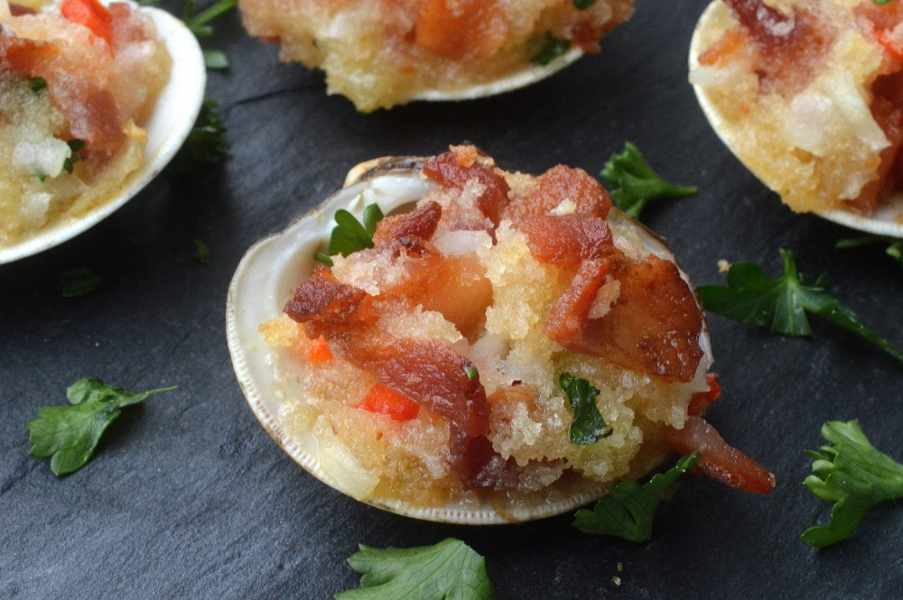 Grilled Clams Casino