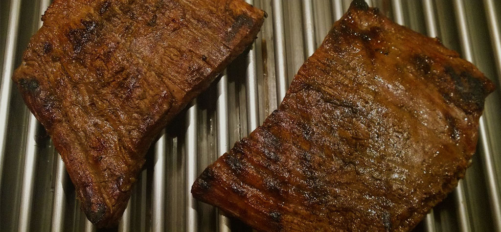 ale marinated grilled flank steak