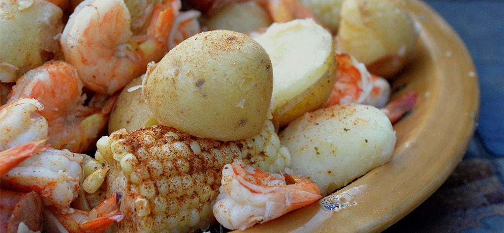 Shrimp Boil on grill