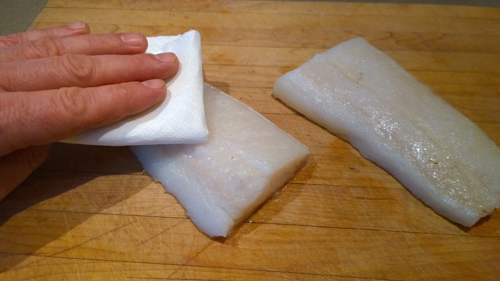 dry halibut fillets