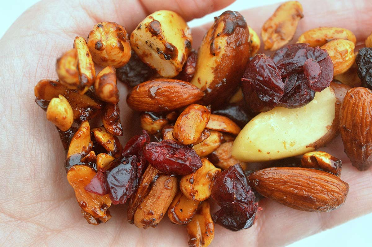 grilled nut trail mix