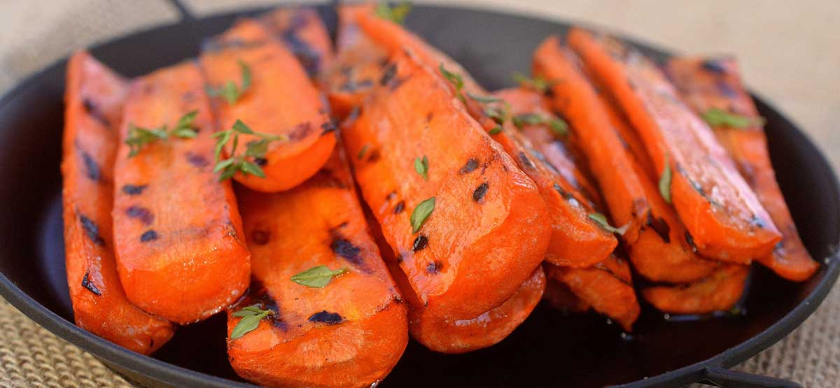 grilled honey balsamic carrots