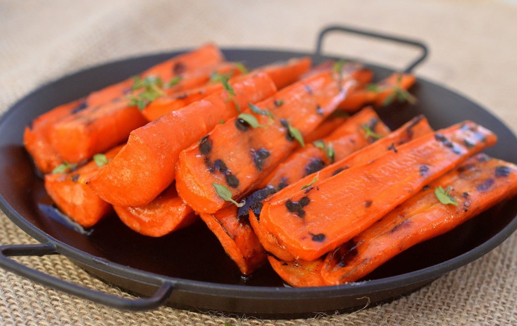Grilled Honey Balsamic Glazed carrots - Vegetables sing when you cook them on your grill!