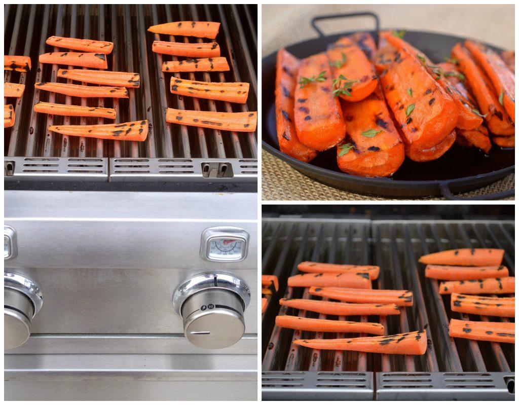 Grilled Honey Balsamic Glazed Carrots