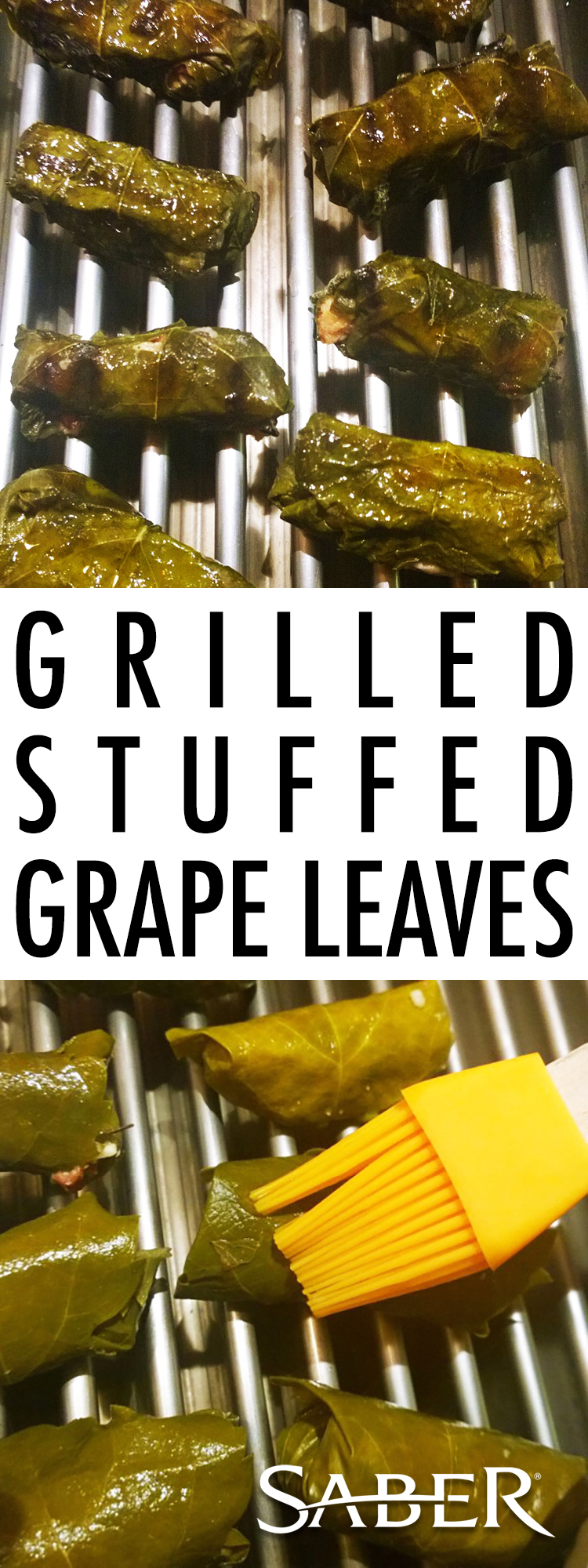 stuffed grilled grape leaves