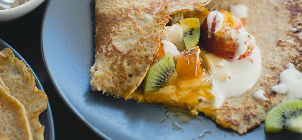 grilled crepes
