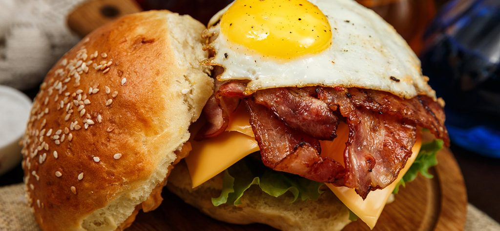 Bacon, Egg and Cheese Burger