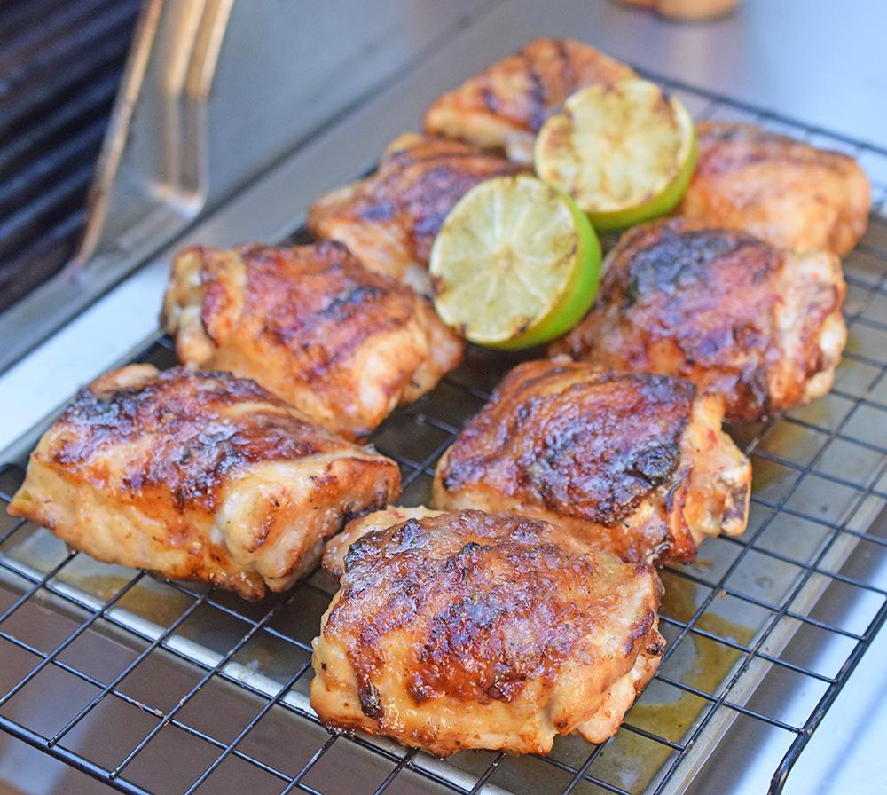 Garlic Lime marinated chicken thighs