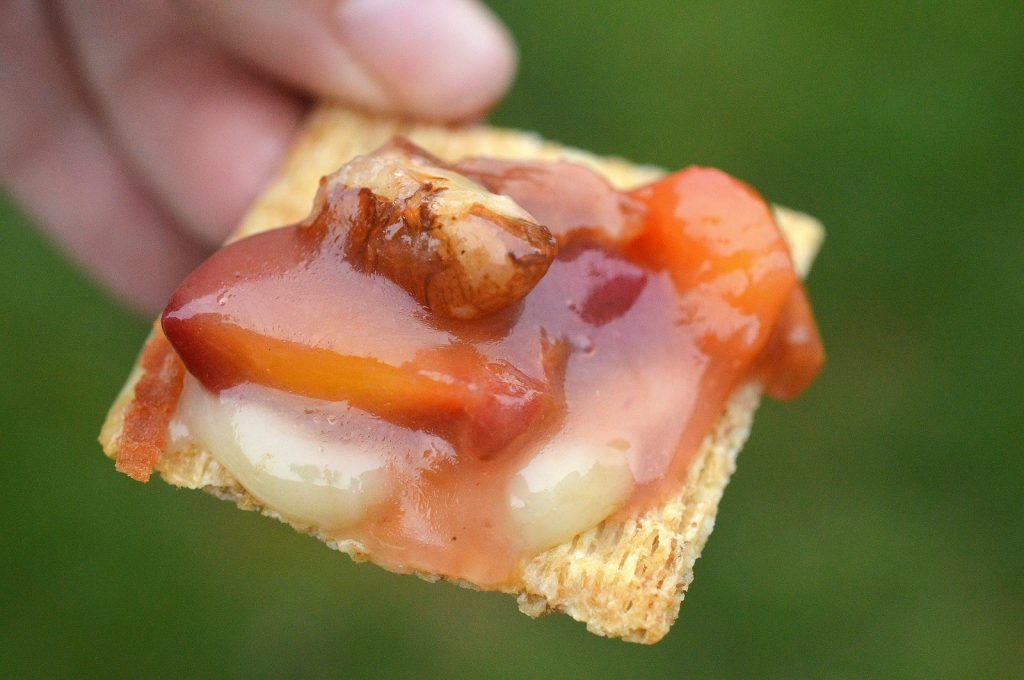Grilling Brie Cheese - Grilled Brie with Peach Compote
