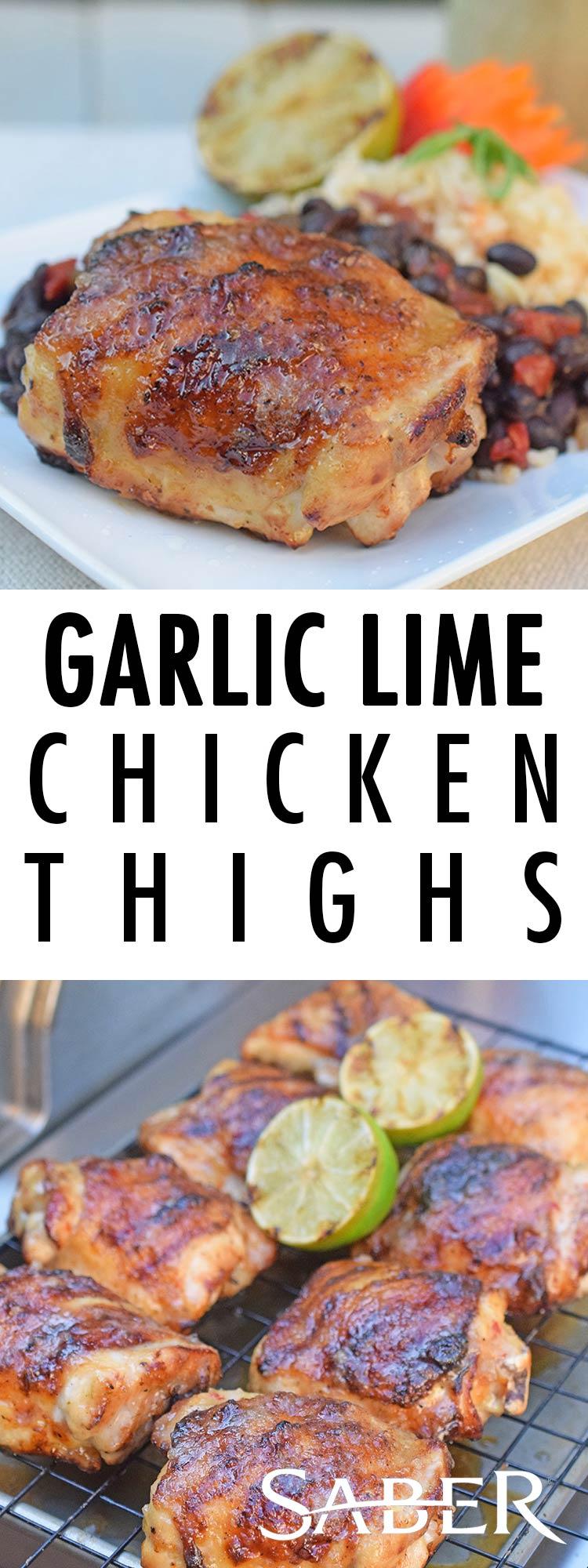 Garlic Lime Chicken Thighs