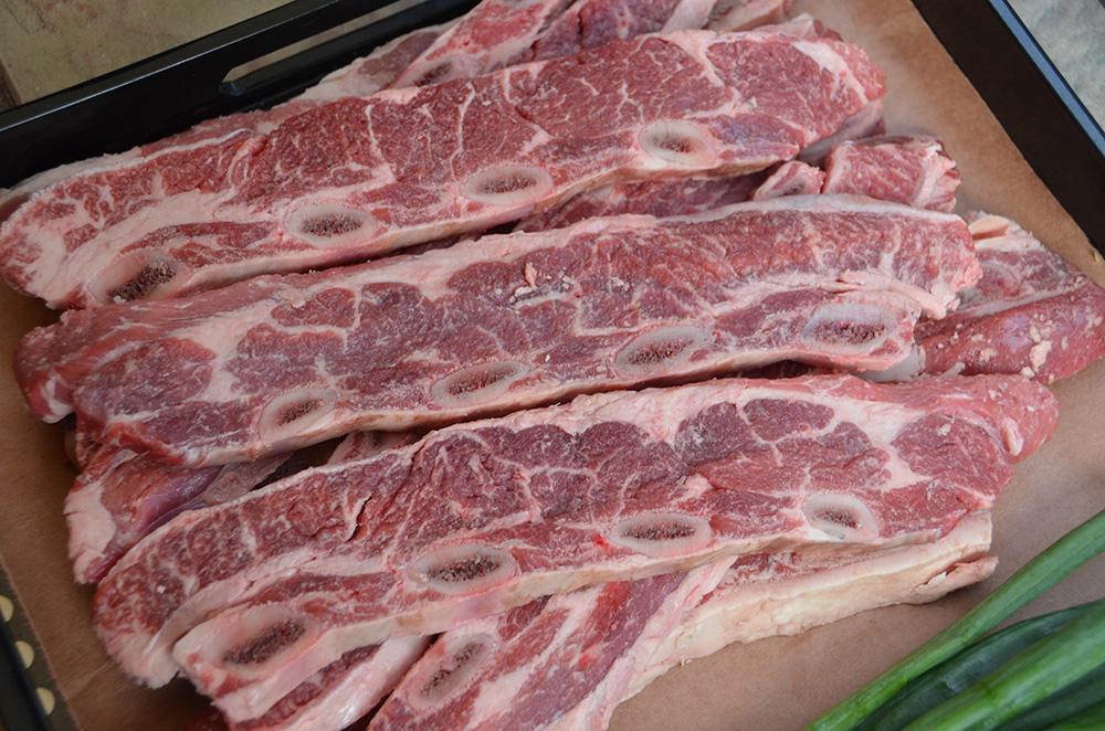 Flanken style cross cut beef ribs recipe