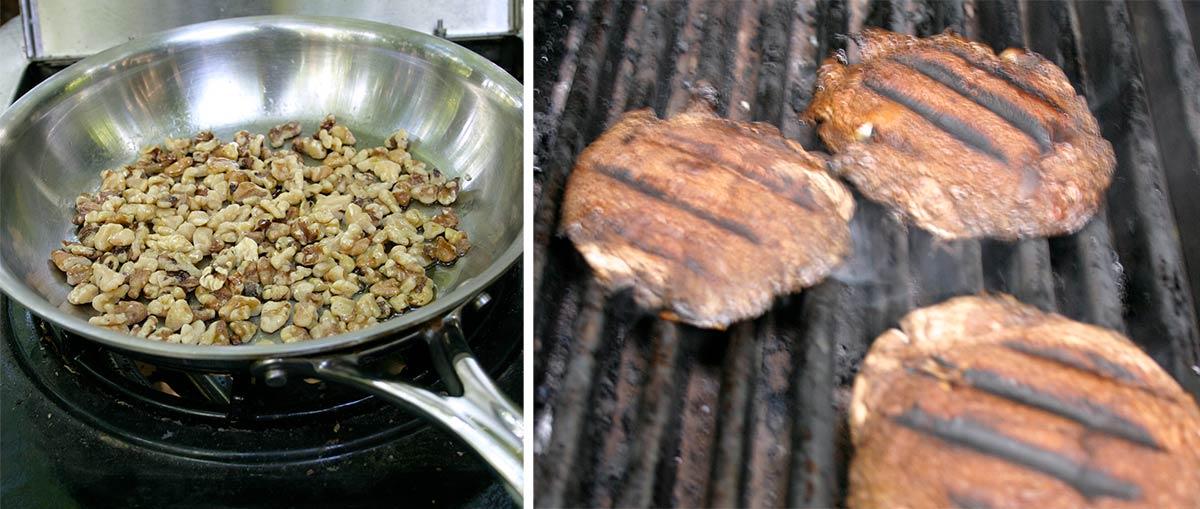grilled walnuts and portebello
