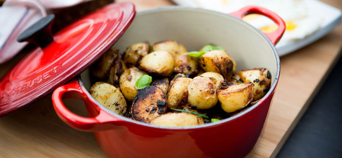 roasted golden potatoes