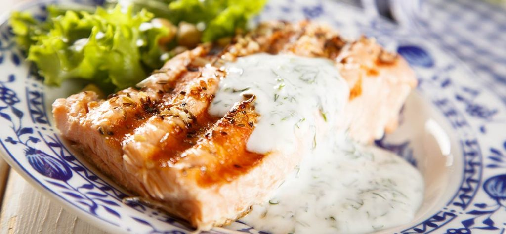 grilled salmon yogurt