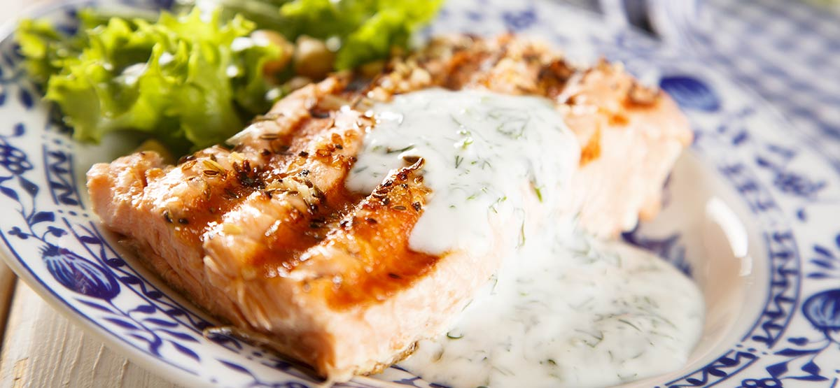 grilled salmon yogurt