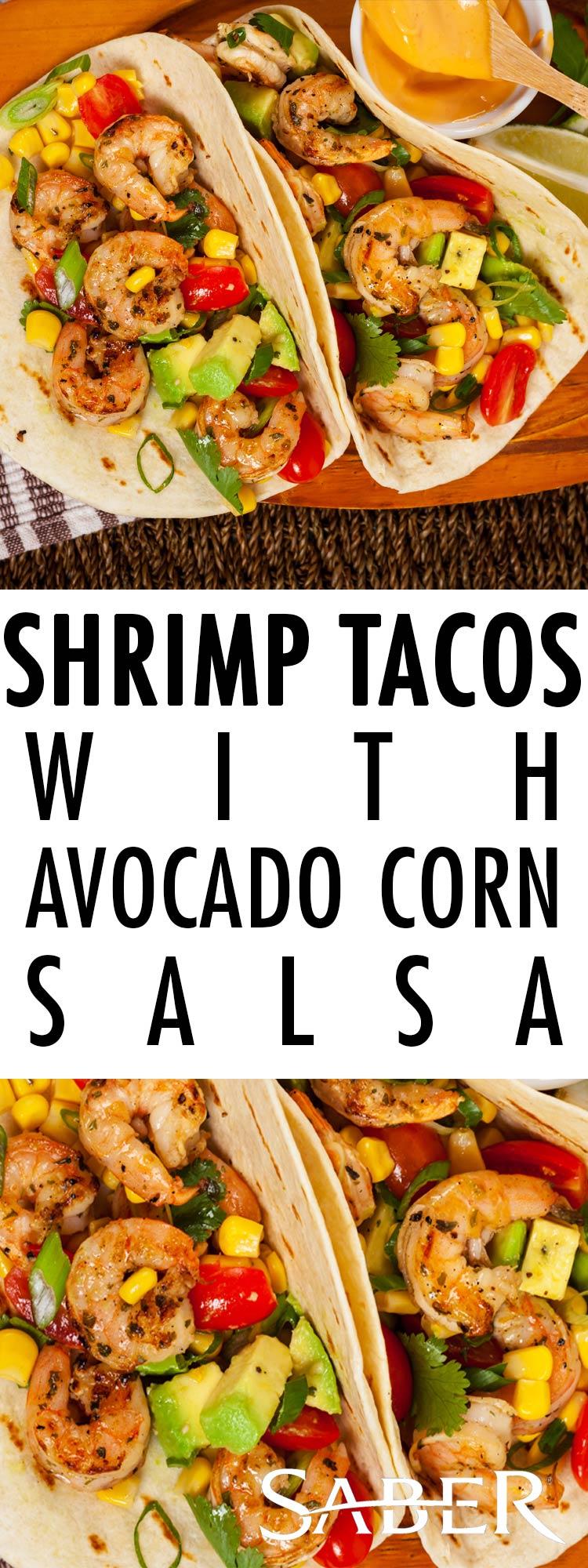 shrimp taco avocado corn salsa