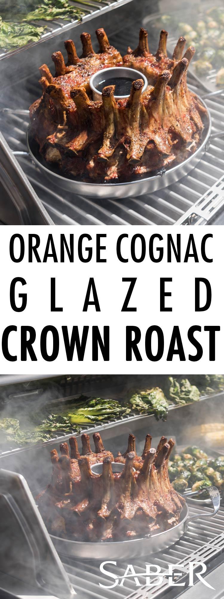 Orange Cognac Glazed Crown Roast